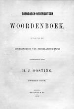Soendasch-Nederduitsch woordenboek