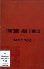 Proverbs, fables, similes and sayings of the Bamongo