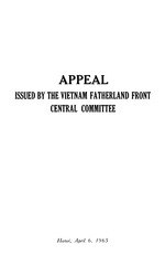 Appeal issued by the Vietnam Fatherland Front, Central Committee