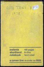 Field notes, Apa Tani 1, 1978 (PP MS 19/01/02/6/089)