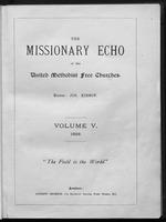 Missionary echo of the Methodist Church