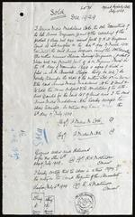 [Documents related to the sale of Lot 30, Chefoo, China]