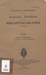 Economic conditions in the Philippine Islands, 1927-1930