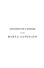 Collections for a handbook of the Makua language