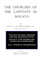 Churches of the captivity in Malaya