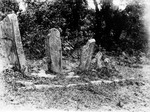 Stone monoliths (Image number R.011, J.P. Mills Photographic Collection)