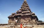 Bali Ram dancing at the Shore Temple in Mahabalipuram