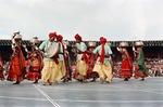 Banjara women and men from Andhra Pradesh dancing