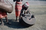 Asuras tribal musician from Bihar playing tasha clay drum