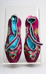 Chinese maroon slippers from the Gladys Aylward collection