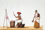 Male and female butchers : from an album of Company paintings of occupations and festivals