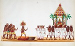 Hindu procession : from an album of Company paintings of occupations and festivals