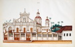Immaculate Conception Cathedral, Roman Catholic church, Pondicherry : from an album of Company paintings of occupations and festivals