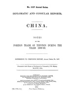 China : Notes on the foreign trade of Tientsin during the years 1900-1903