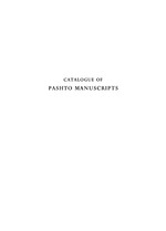 Catalogue of Pashto manuscripts in the libraries of the British Isles