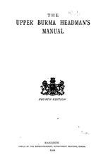 The Upper Burma headman's manual