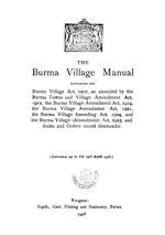 The Burma village manual