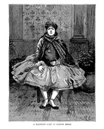 Koordish lady in indoor dress