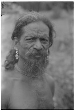 Portrait of a Vedda man in Sri Lanka