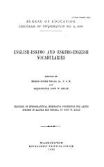 English-Eskimo and Eskimo-English vocabularies