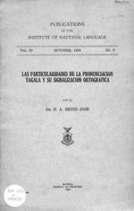 Particularidades de la pronunciación tagala y su signalización ortográfica