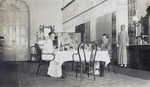 Photograph captioned 'Dining Room, Commissioner's House, Macao (Lappa)'