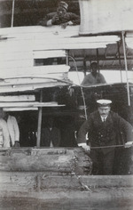 Photograph captioned 'Damaged Motor Boat, Nanning'