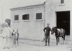 Photograph captioned 'My ponies, Nanning'