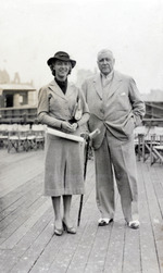 Photograph, R.F.C. Hedgeland standing with a woman