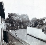 Photograph, view of a flooded path