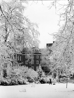 Philips Building, in the snow: view from Russell Square