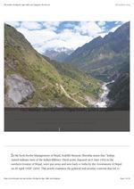 The Indian checkposts, Lipu Lekh, and Kalapani