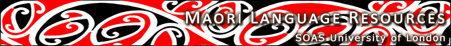 Maori Language Resources