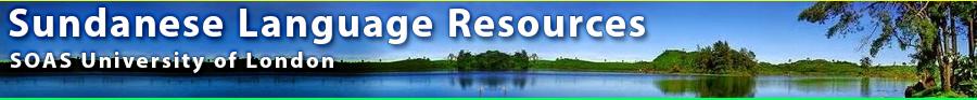 Sundanese Language Resources